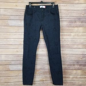 CAbi Jeans Printed Skinny Size 6